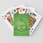 Green Celtic Trinity Knot Playing Cards at Zazzle