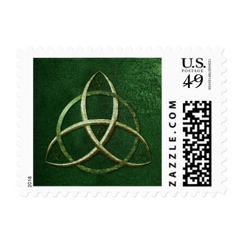Green Celtic Trinity Knot Postage