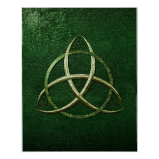 Green Celtic Trinity Knot Posters