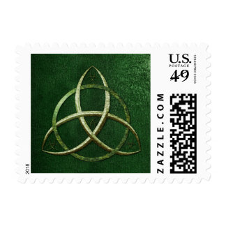 Green Celtic Trinity Knot Stamp