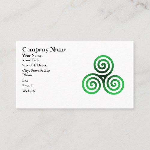 Green Celtic Triskele