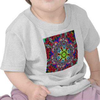 Green center Kaleidiscope T-shirts