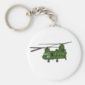 Green CH-47 Chinook Military Helicopter Keychain