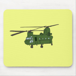Green CH-47 Chinook Military Helicopter Mouse Pad