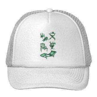 Green chairs trucker hat