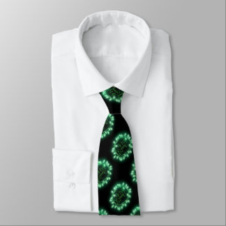 Green Chalk Drawn Merry and Bright Holiday Neck Tie