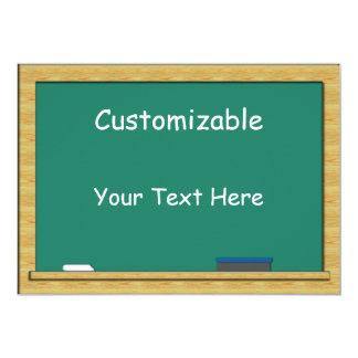 Green Chalkboard Greeting - Custom, Blank Back Card