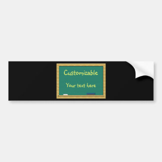Green Chalkboard Greeting - Customizable Bumper Sticker