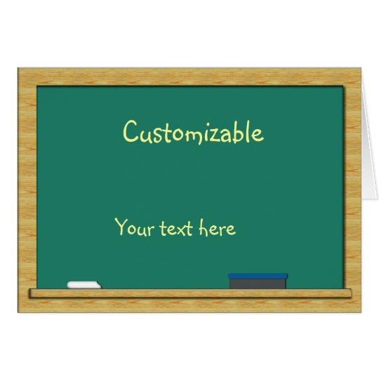 Green Chalkboard Greeting - Customizable Card