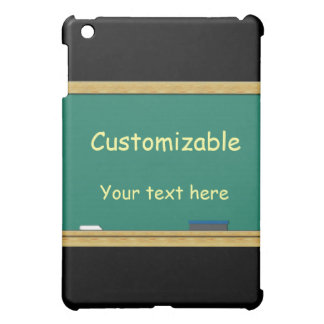 Green Chalkboard Greeting - Customizable Case For The iPad Mini