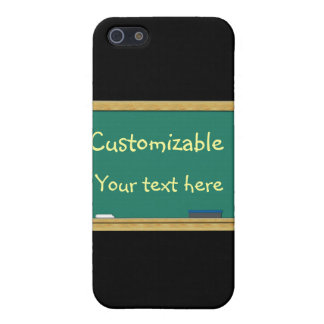 Green Chalkboard Greeting - Customizable Cover For iPhone SE/5/5s