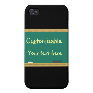 Green Chalkboard Greeting - Customizable iPhone 4/4S Cover