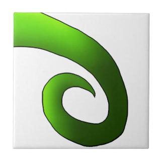 Green Chameleon Tail Tile