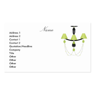 Green Chandelier Business Card