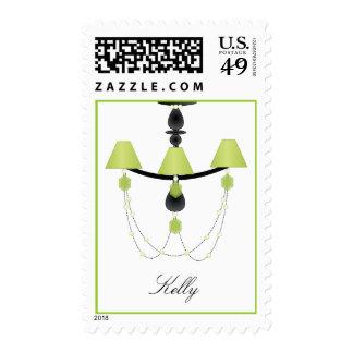 Green Chandelier Postage Stamp