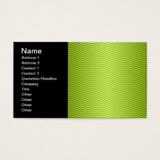 Green Chartreuse Stripes Pattern Business Card
