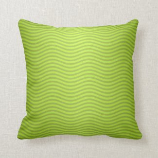 Green Chartreuse Stripes Pattern Pillows
