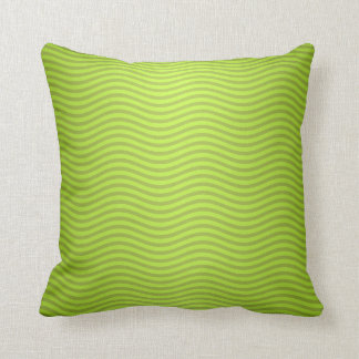 Green Chartreuse Stripes Pattern Throw Pillow