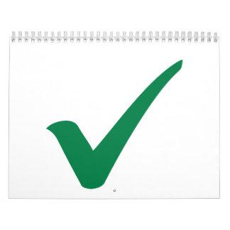 Green check mark calendar