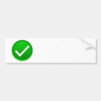 Green Check Mark Symbol Bumper Sticker