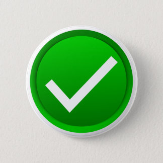 Green Check Mark Symbol Button