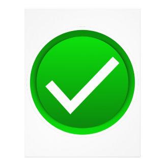 Green Check Mark Symbol Flyer