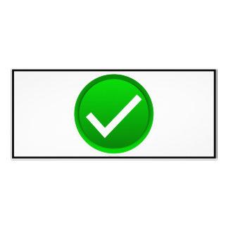 Green Check Mark Symbol Full Color Rack Card