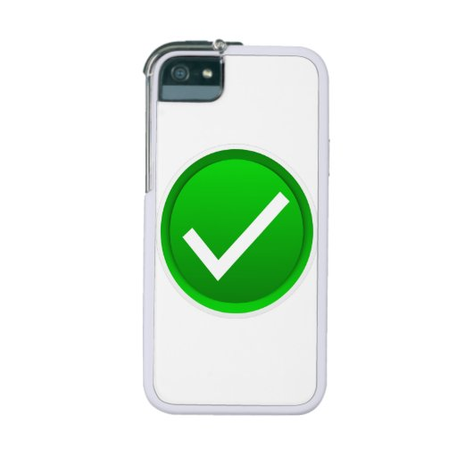 Green Check Mark Symbol iPhone 5/5S Cases