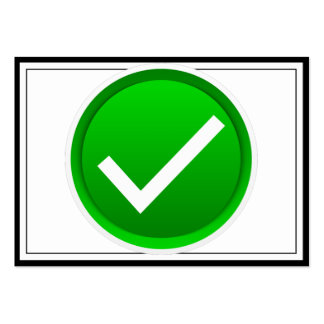 Green Check Mark Symbol Large Business Card