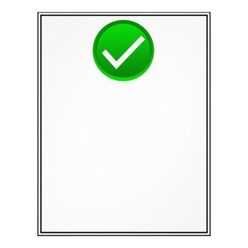 Green Check Mark Symbol Letterhead