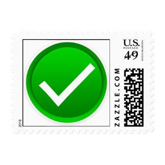 Green Check Mark Symbol Postage Stamp