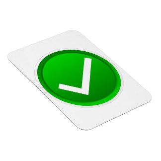 Green Check Mark Symbol Rectangular Magnet