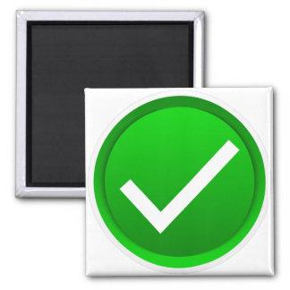 Green Check Mark Symbol Refrigerator Magnets