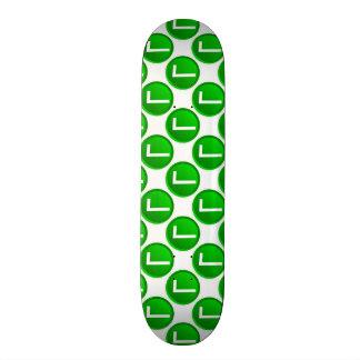 Green Check Mark Symbol Skate Deck