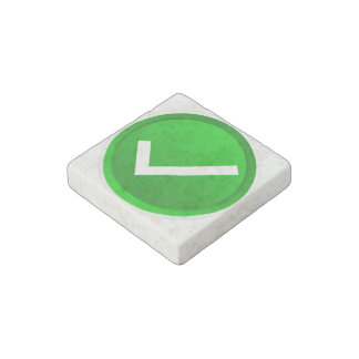 Green Check Mark Symbol Stone Magnet