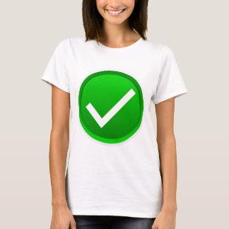 Green Check Mark Symbol T-Shirt