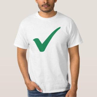 Green check mark T-Shirt
