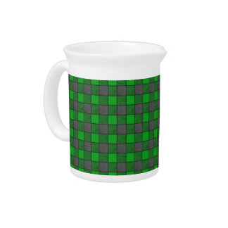 Green Check Pitcher