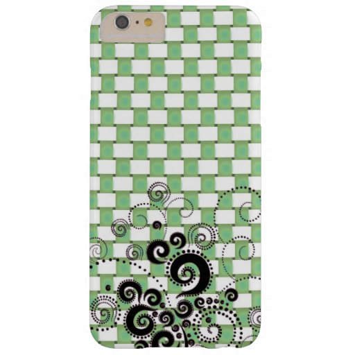 green checked design barely there iPhone 6 plus case