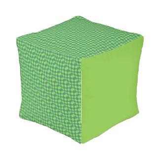 Green Checkerboard Outdoor Pouf