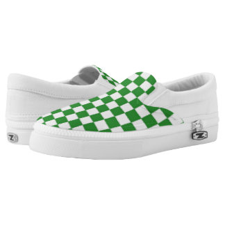Green Checkerboard Sneakers