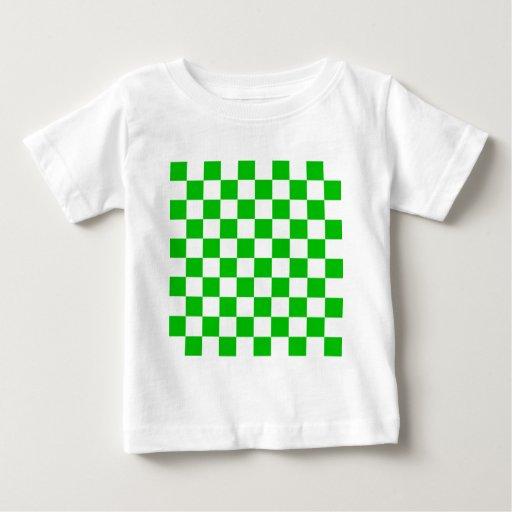 Green checkerboard tee shirt