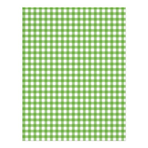 Green Checkered Cloth Letterhead Design