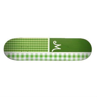 Green Checkered; Gingham Skateboard Decks