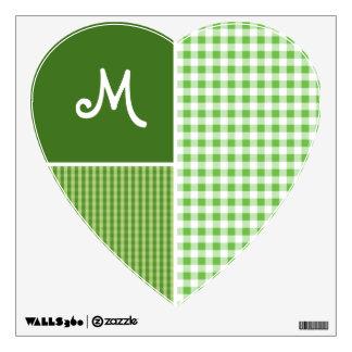 Green Checkered; Gingham Wall Sticker