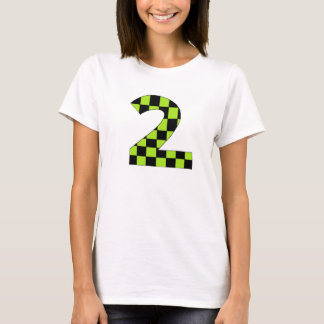 Green Checkered Number Two T-Shirt