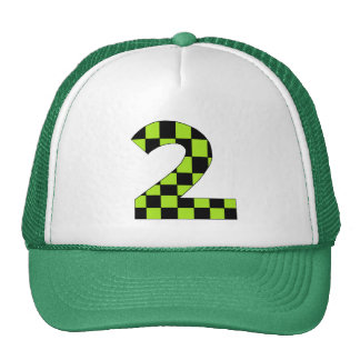 Green Checkered Number Two Trucker Hat