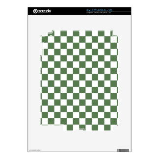 Green Checkered Pattern Skins For iPad 2