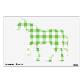 Green Checkered Pattern Wall Sticker
