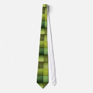 Green Checkered Texture Neck Tie